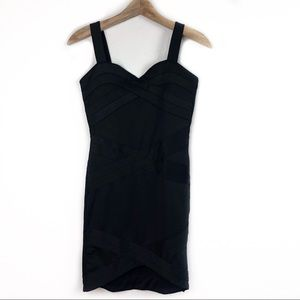 H&M Divided Black Bodycon Dress US 8